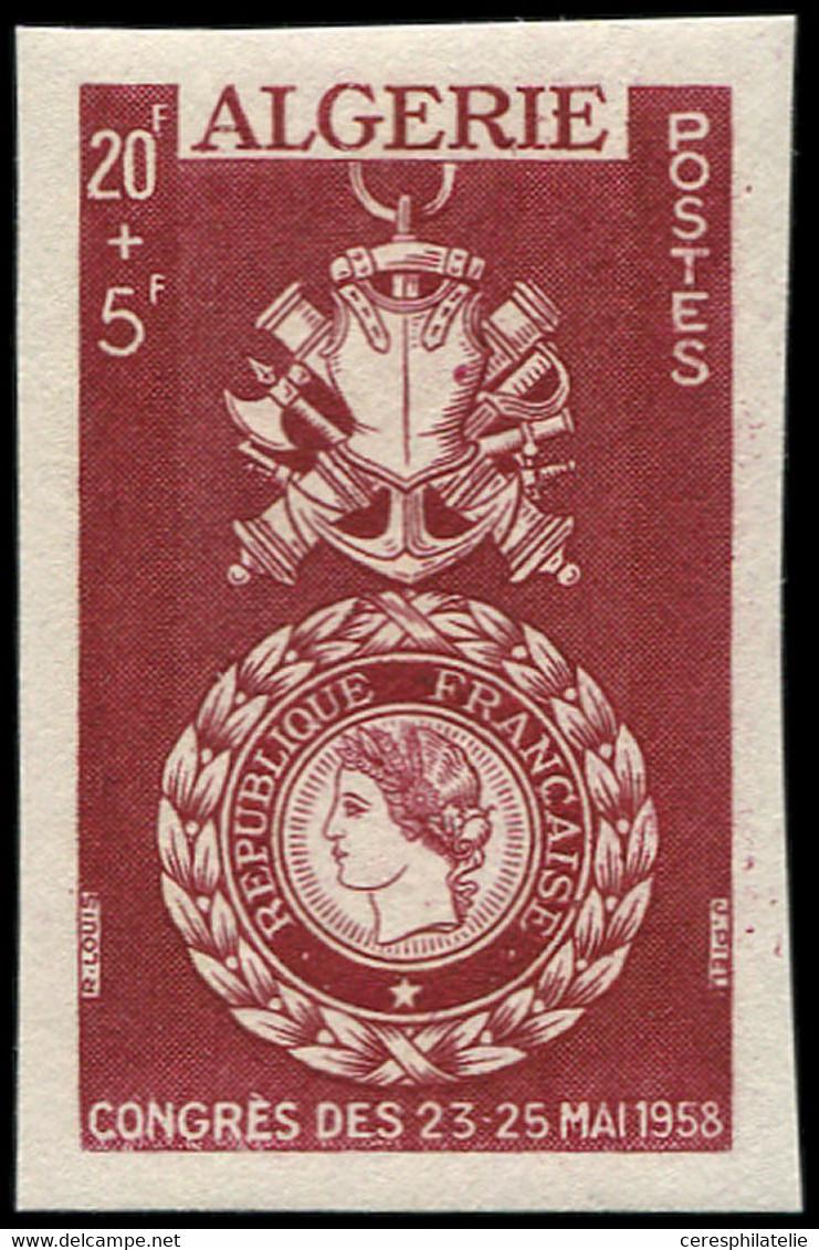** 363   20f + 5f., Légende CONGRES DES 23-25 MAI 1958, NON EMIS, Essai De Couleur En Marron, R Et TB, Cote Et N° Maury - Unused Stamps