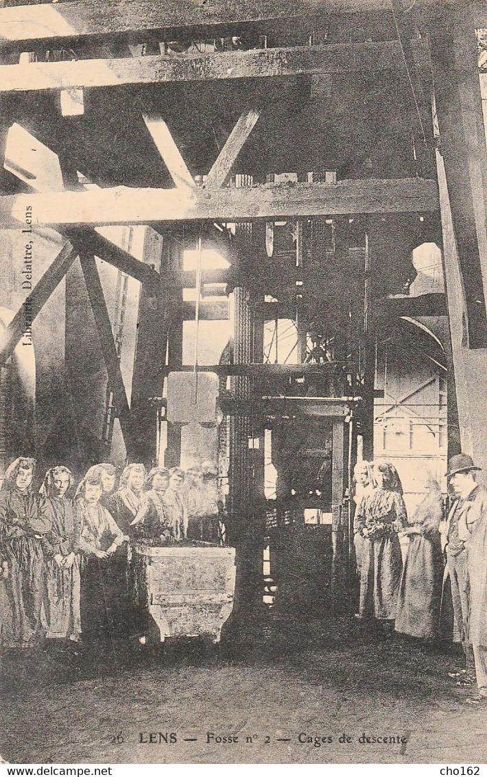 62-LENS (Les Mines)  Fosse N°2 Cages De Descente - Lens