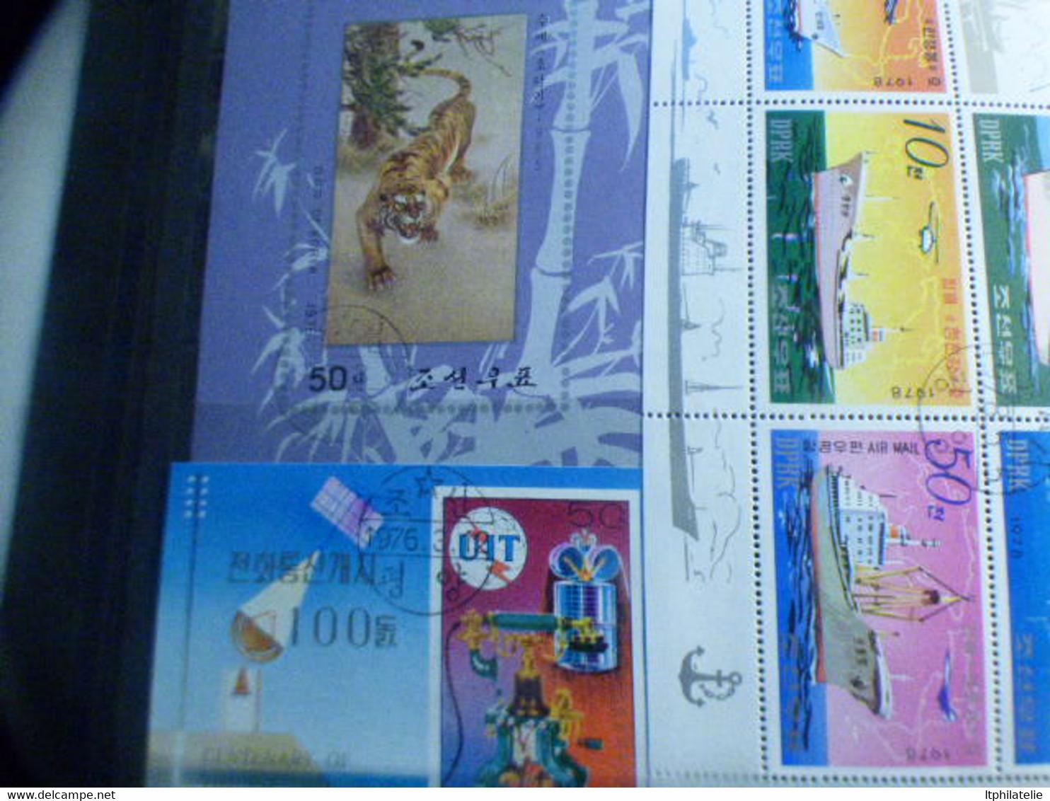DESTOCKAGE- CLASSEUR  BEAUX TIMBRES ETBLOCS DU MONDE  THEMATIQUES GRENADE COREE  MALDIVES NEUFS ET OBLITERES - Collections (without Album)