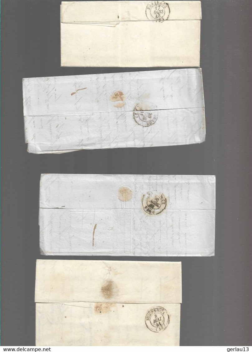 LOT    4  MARQUES POSTALES     2 SCANS - 1801-1848: Voorlopers XIX