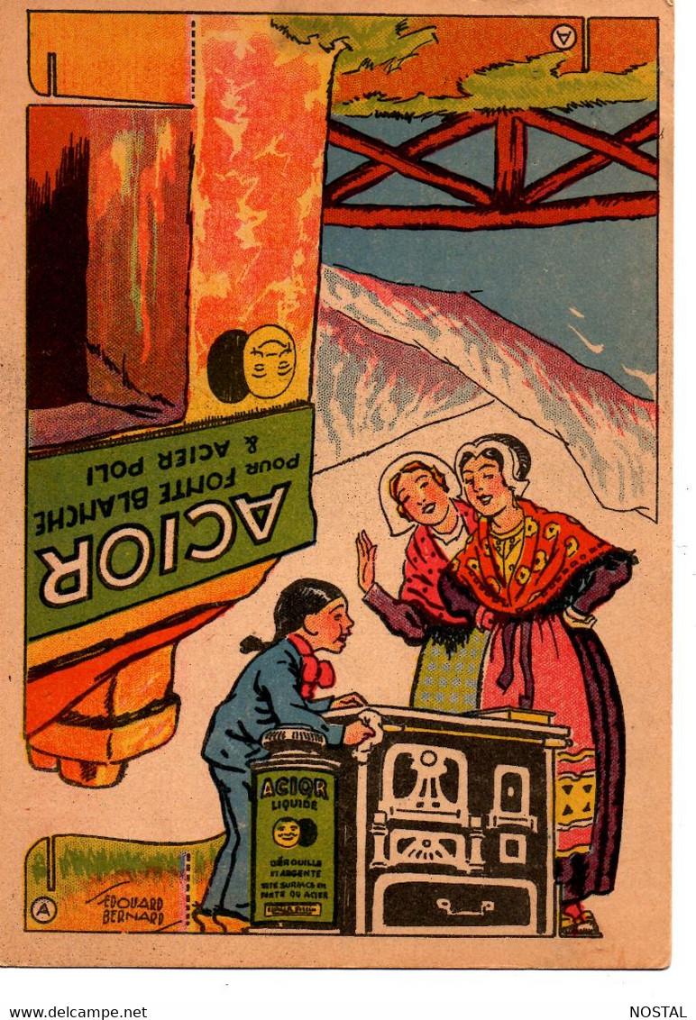 Carton Publicitaire à Découper Acior  11,5 X 16,50 Cm - Reclame