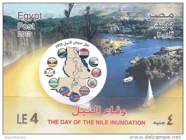 Egypt - 2013 - ( The Day Of The Nile Inundation ) - S/S - MNH (**) - Nuovi
