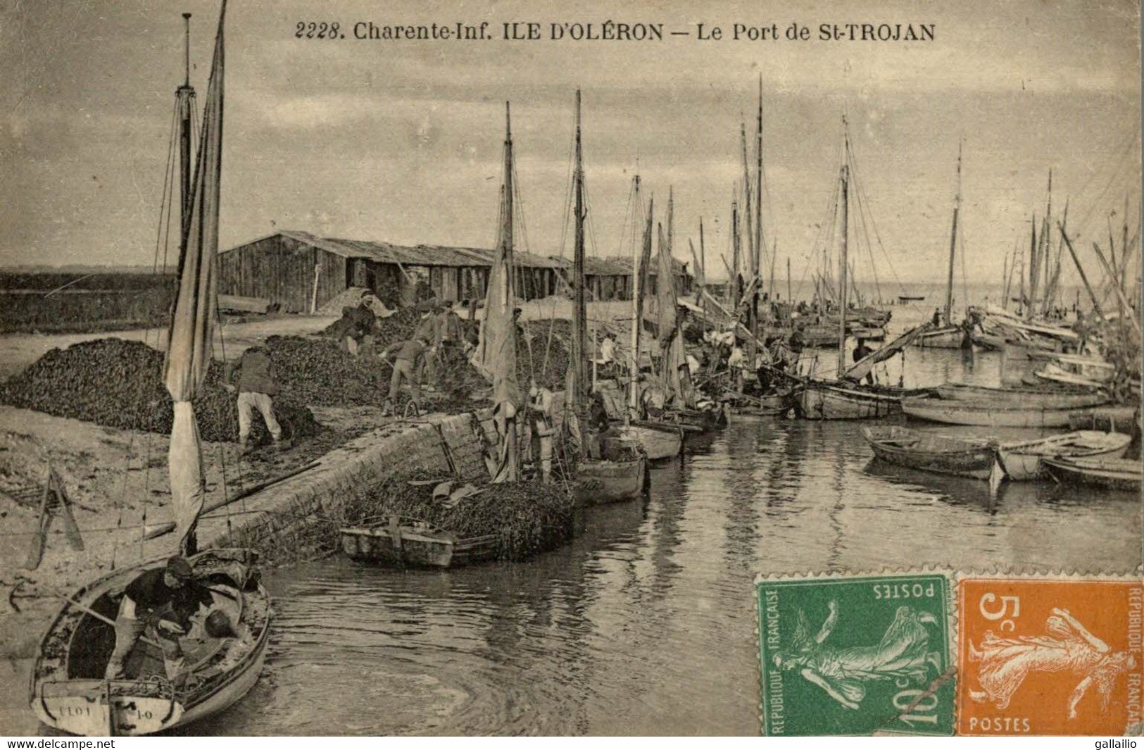 ILE D'OLERON LE PORT DE SAINT TROJAN - Ile D'Oléron