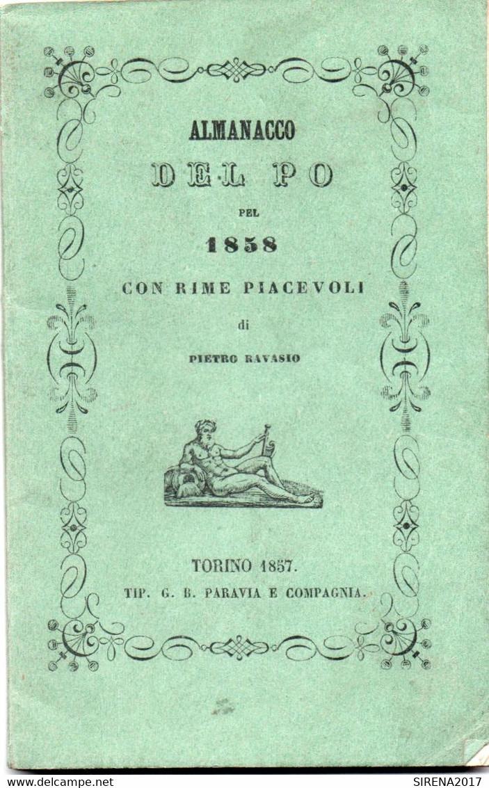 ALMANACCO DEL PO Pel 1858 CON RIME PIACEVOLI - TORINO 1857 - Zu Identifizieren