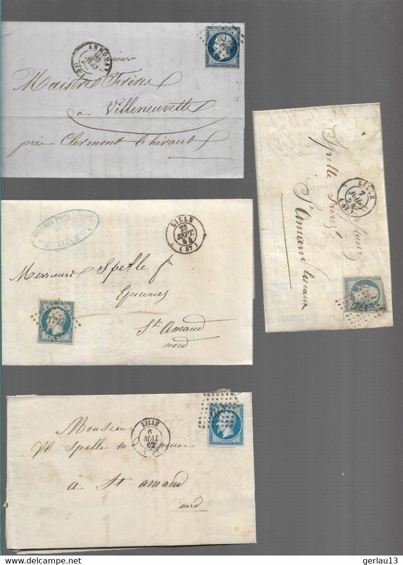 LOT  4 LETTRES ANCIENNES - 1849-1876: Période Classique