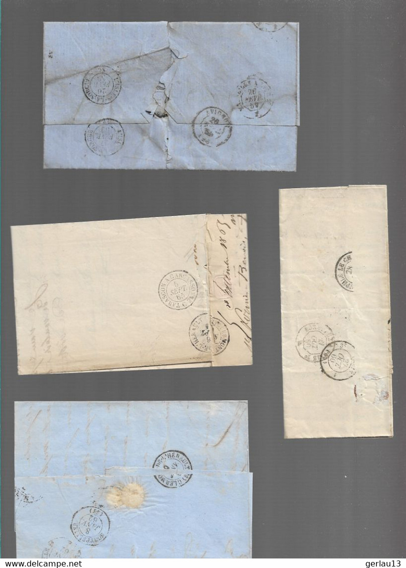 LOT  4 LETTRES ANCIENNES - 1849-1876: Periodo Classico