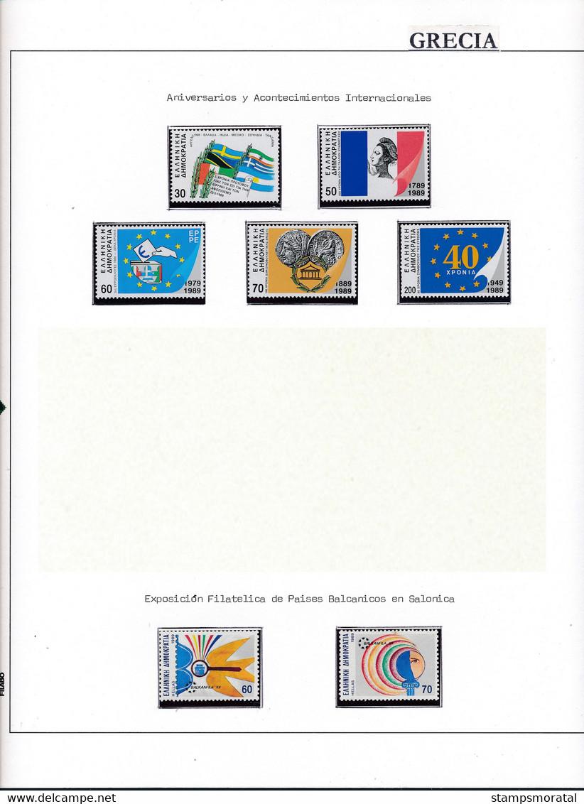 [10] 1926/2000 Grèce  1 Album + 1 Classificateur  Collection Assez Complète En Neuf **SC/*Ch (Voir Détail) Timbres D'un - Collections