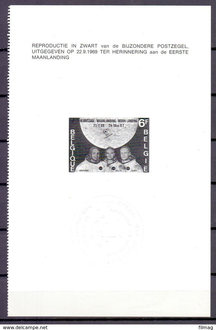 ZNP 2 MAANLANDING  ZWART WIT VELLETJE 1970 (NL) - Zwarte/witte Blaadjes