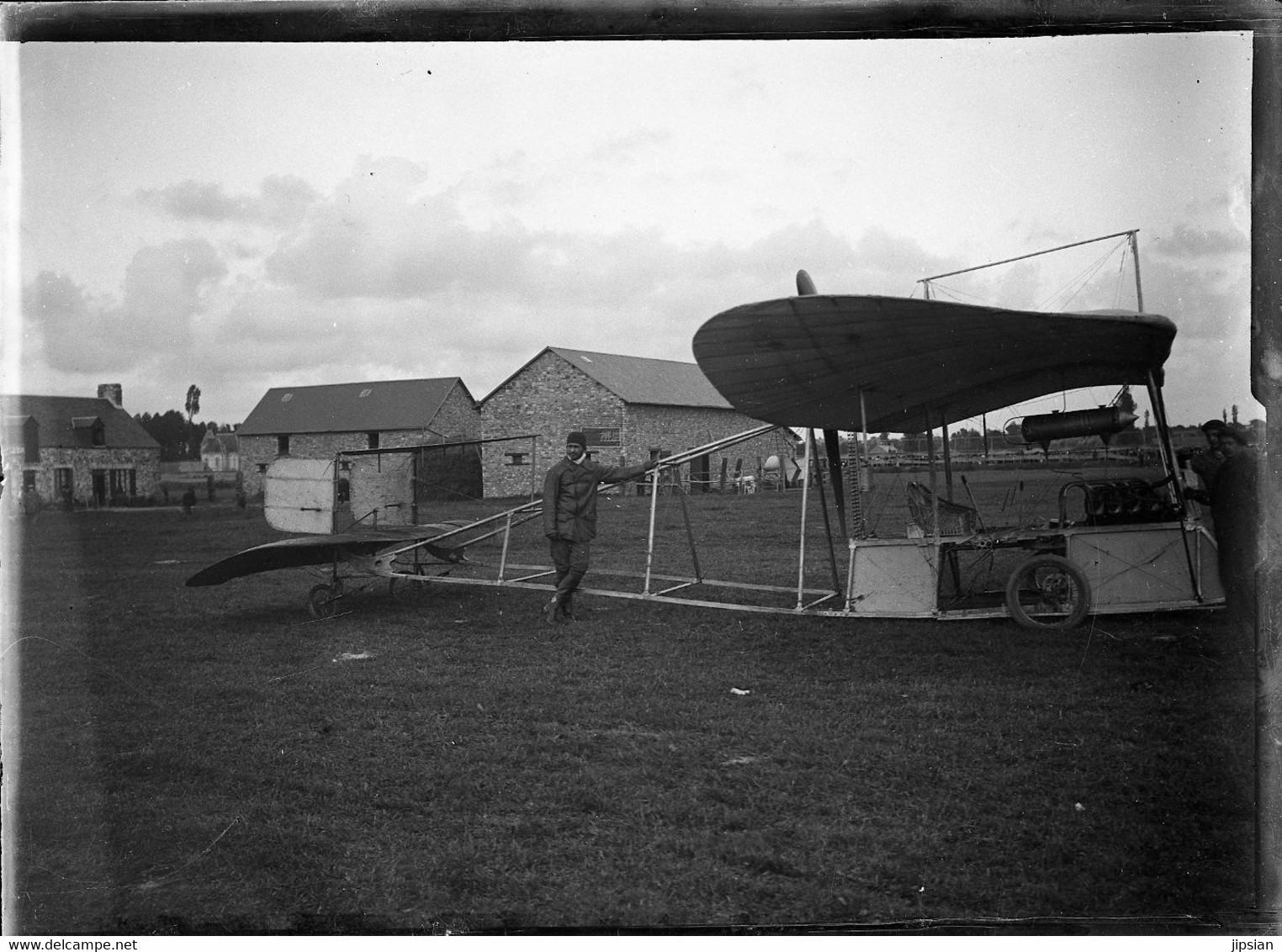 Lot De 6 Plaques De Verre Négatives Blériot XI Alouette 2 Guillaume Busson Et Autoplan D' Alfred Pischof Circa 1910  GF - Luftfahrt