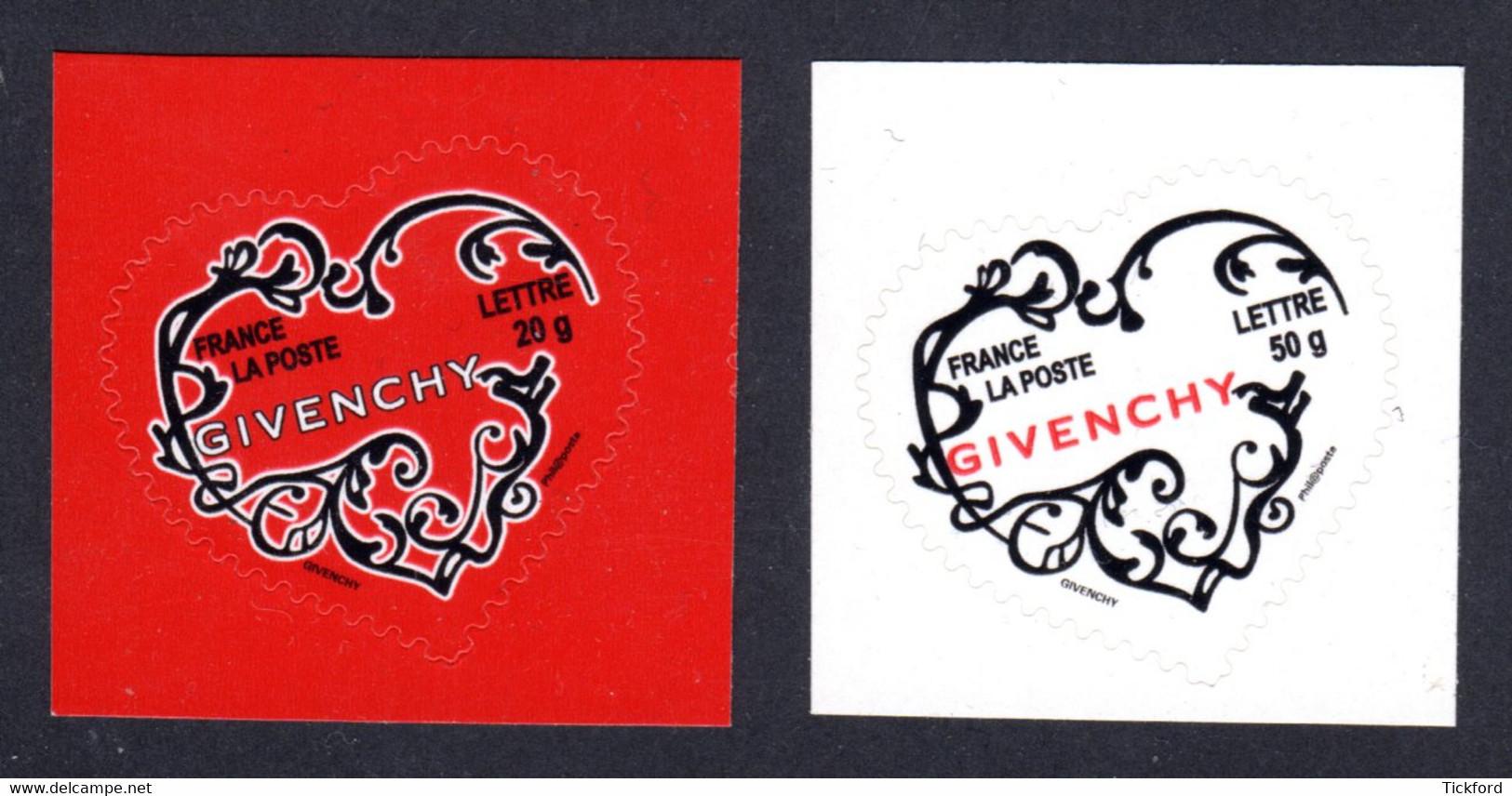 FRANCE 2007 - Autoadhésifs Yvert N° 102/103 NEUFS, Saint-Valentin, Coeurs Givenchy - Luchtpost