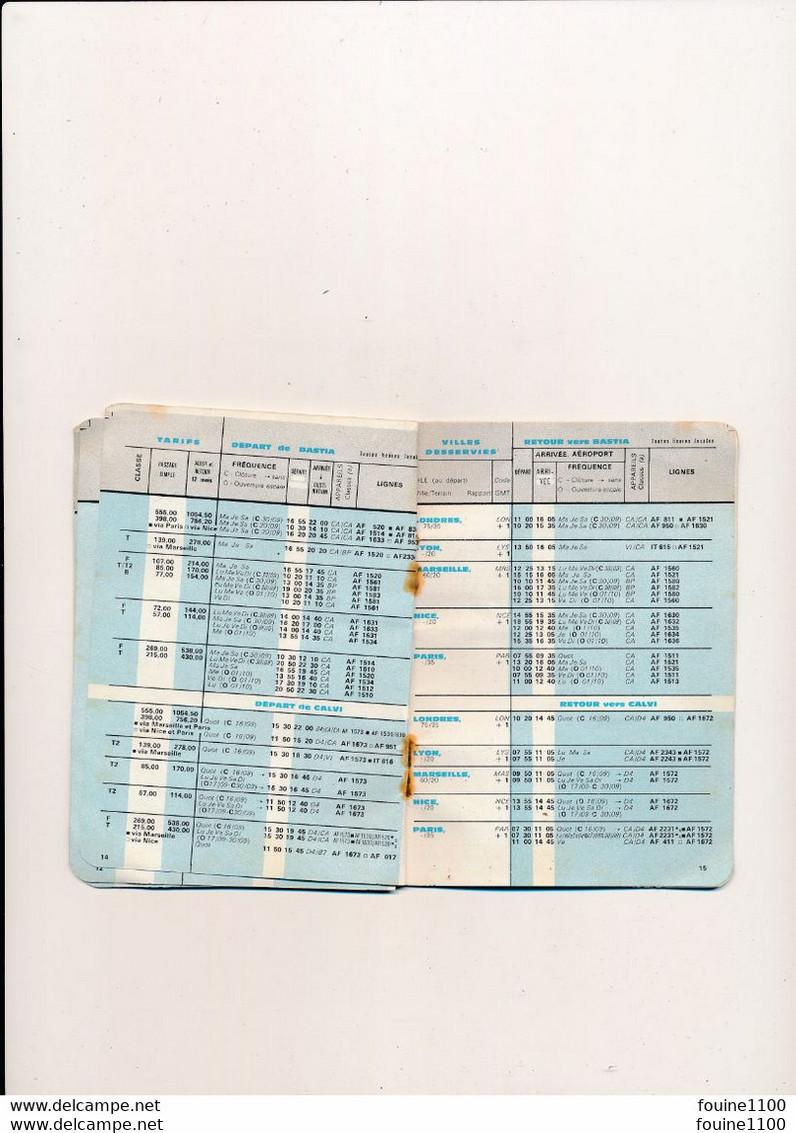 Horaire De Poche COMPAGNIE AERIENNE AIR FRANCE 1964  ( Entièrement Scanné ) Mauvais état - Europe