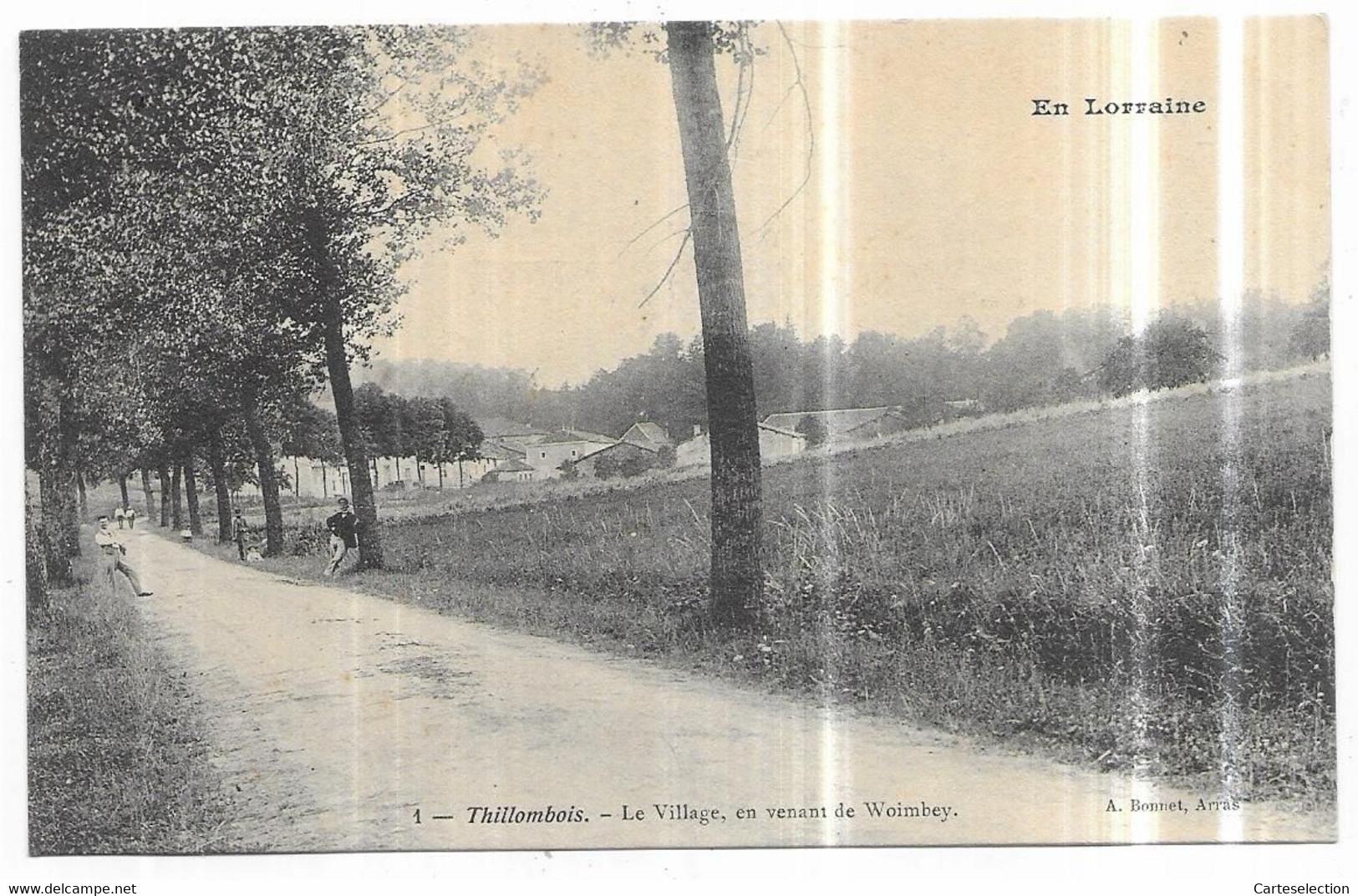 Thillombois Le Village, En Venant De Woimbey - Autres Communes