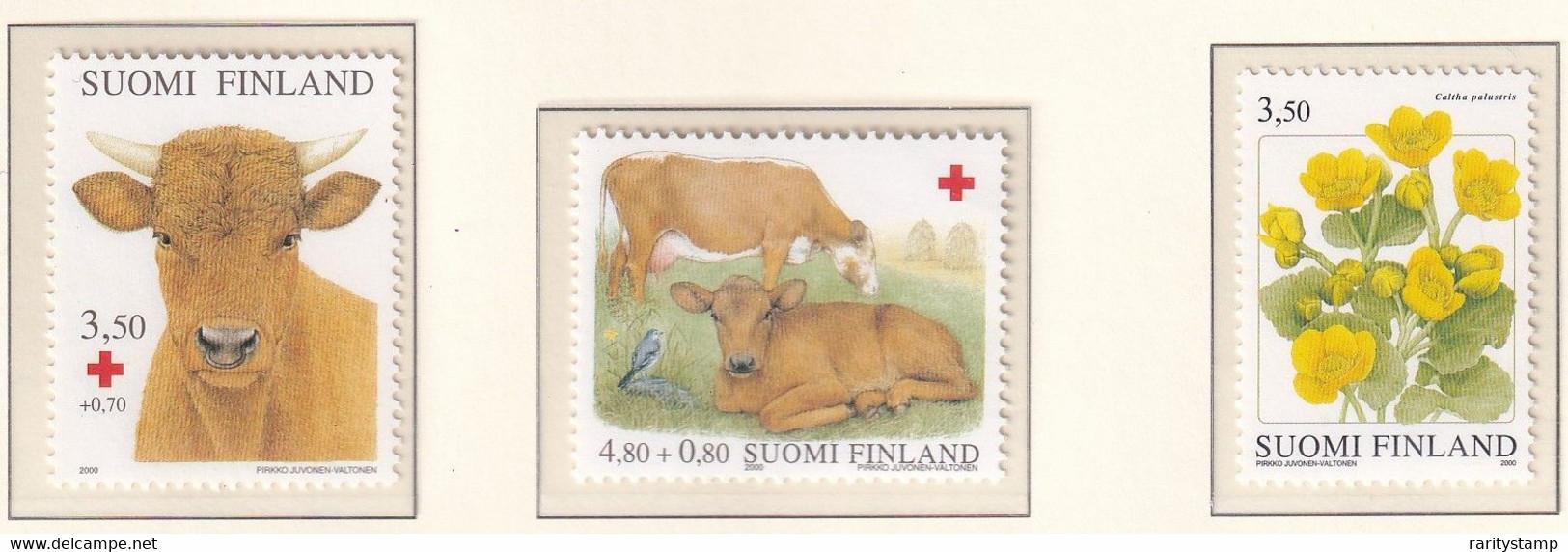 FINLANDIA 2000 PRO CROCE ROSSA 1495/96 MNH** - Nuevos