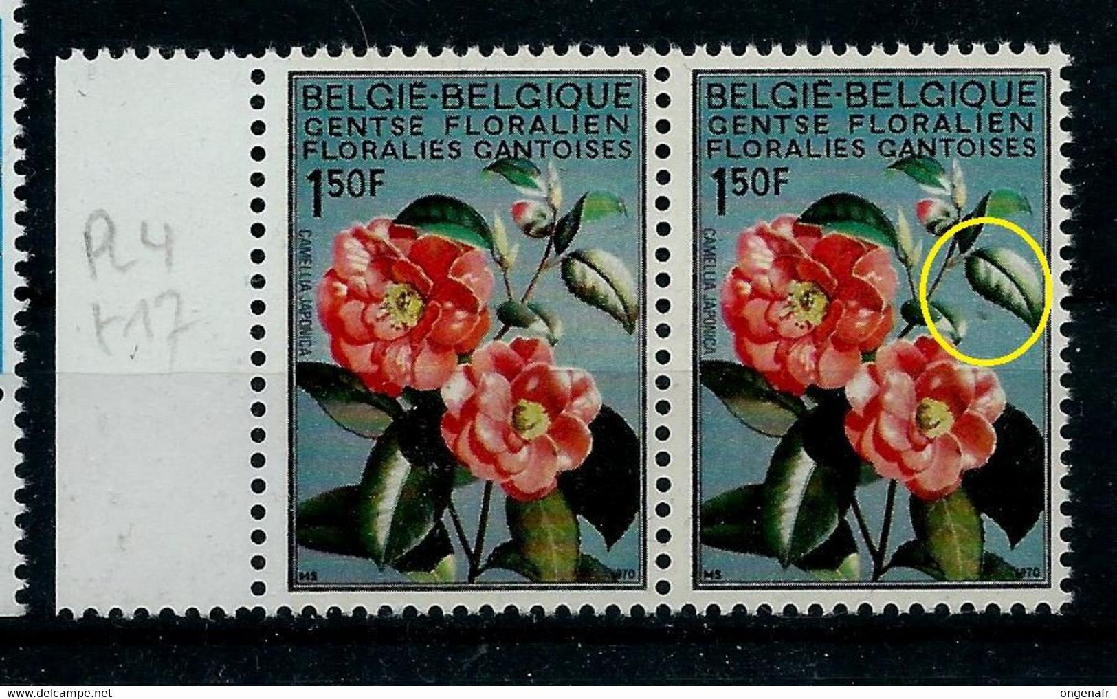 N°1523 - V2 - En Paire - Floralies Gantoises - Goutte De Rosée -     (état: ** ) - Plaatfouten (Catalogus OCB)