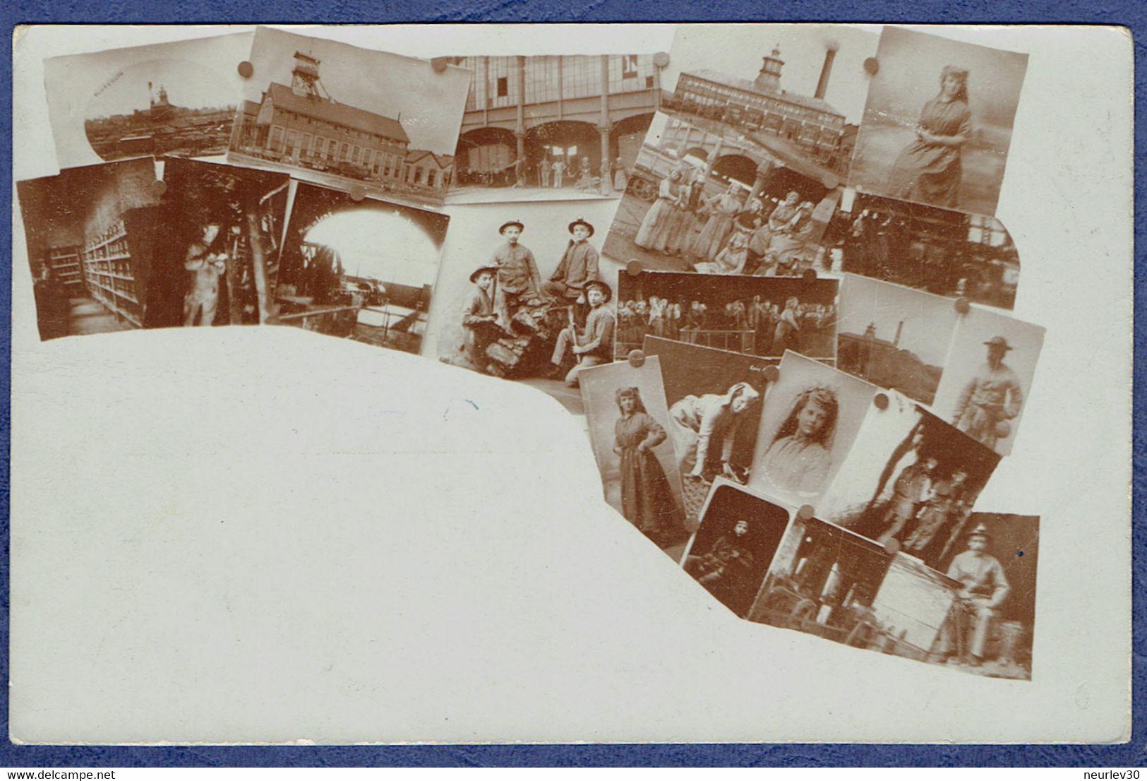 CARTE PHOTO PAS-DE-CALAIS (62) - LENS - MULTIVUES - MONTAGE PHOTO - Lens