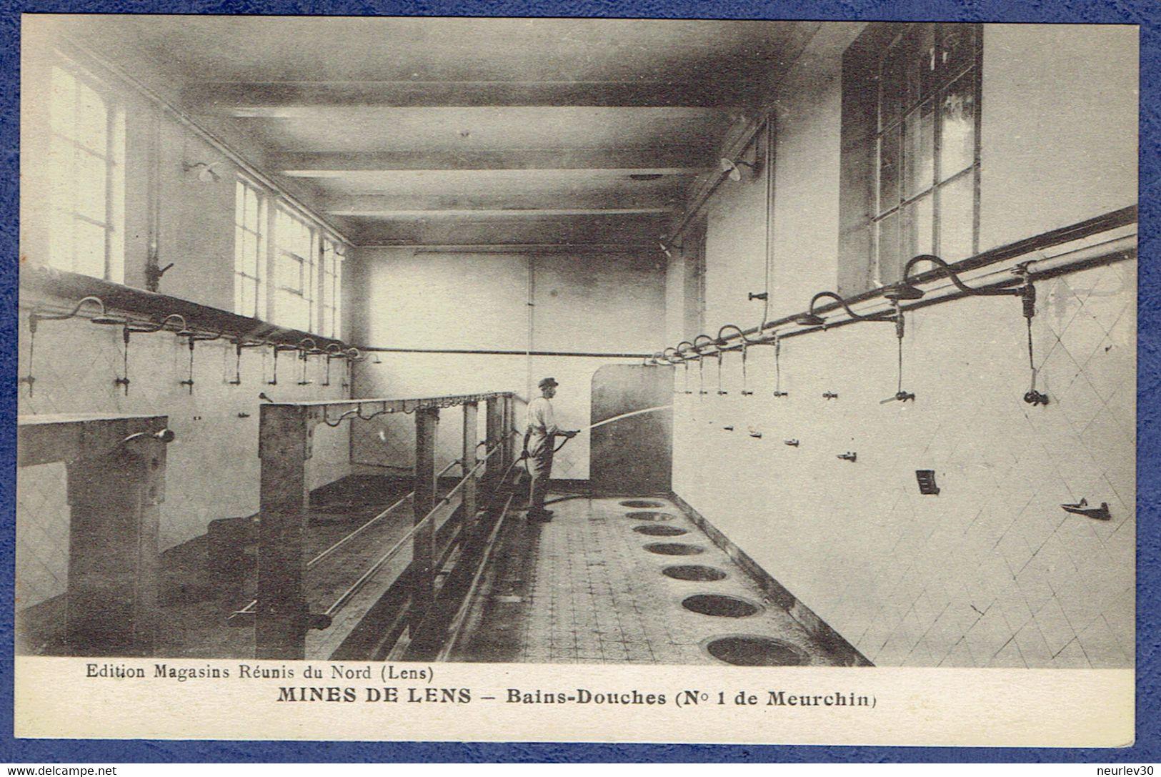 CPA PAS-DE-CALAIS (62) - MINES DE LENS - BAINS-DOUCHES (N° 1 DE MEURCHIN) - Lens