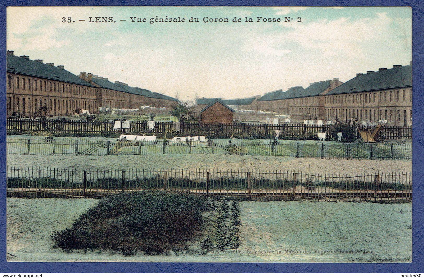 CPA PAS-DE-CALAIS (62) - LENS - VUE GENERALE DU CORON DE LA FOSSE N° 2 - Lens