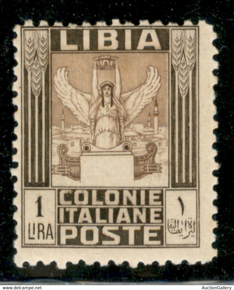 Colonie - Libia - 1926 - 1 Lira Pittorica (65) - Gomma Originale Con Ingiallimento Al Verso - Non Classificati