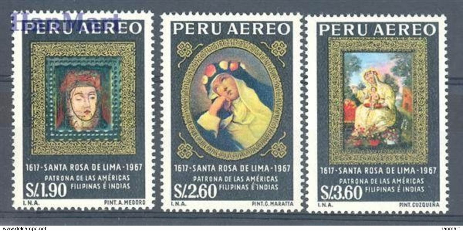 Peru 1967 Mi 683-685 MNH  - Christendom