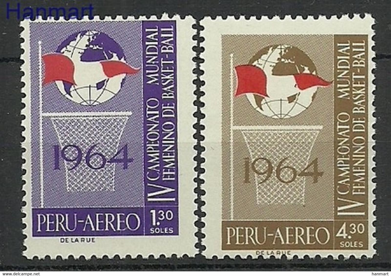 Peru 1965 Mi 645-646 Postfrisch  - Basketball