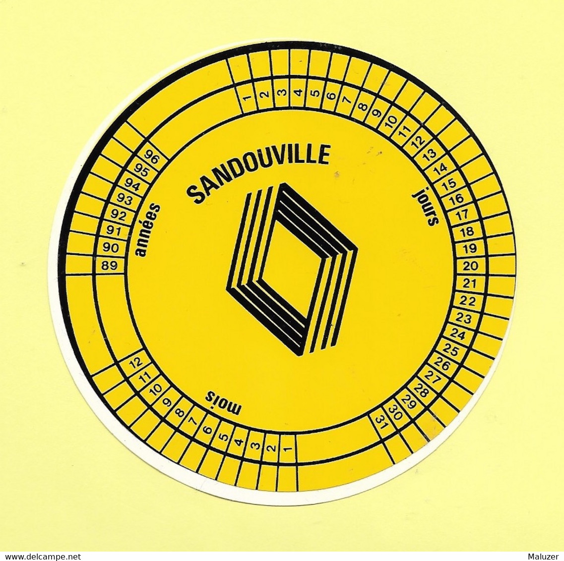 AUTOCOLLANT STICKER - RENAULT - SANDOUVILLE - SEINE-MARITIME - NORMANDIE - AUTOMOBILE - Stickers