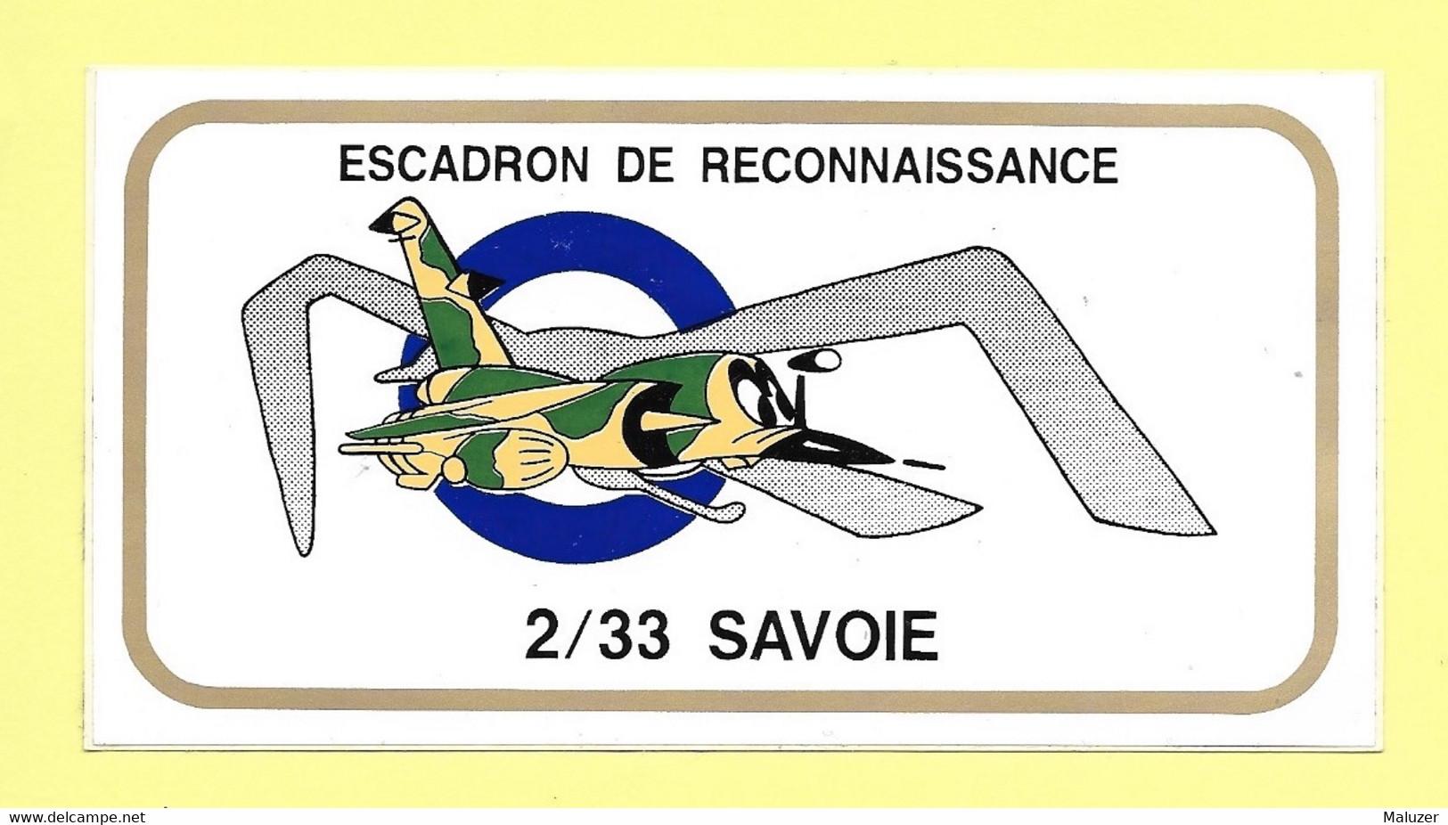 AUTOCOLLANT STICKER - ESCADRON DE RECONNAISSANCE 2/33 SAVOIE - ARMÉE - MILITARIA - Stickers