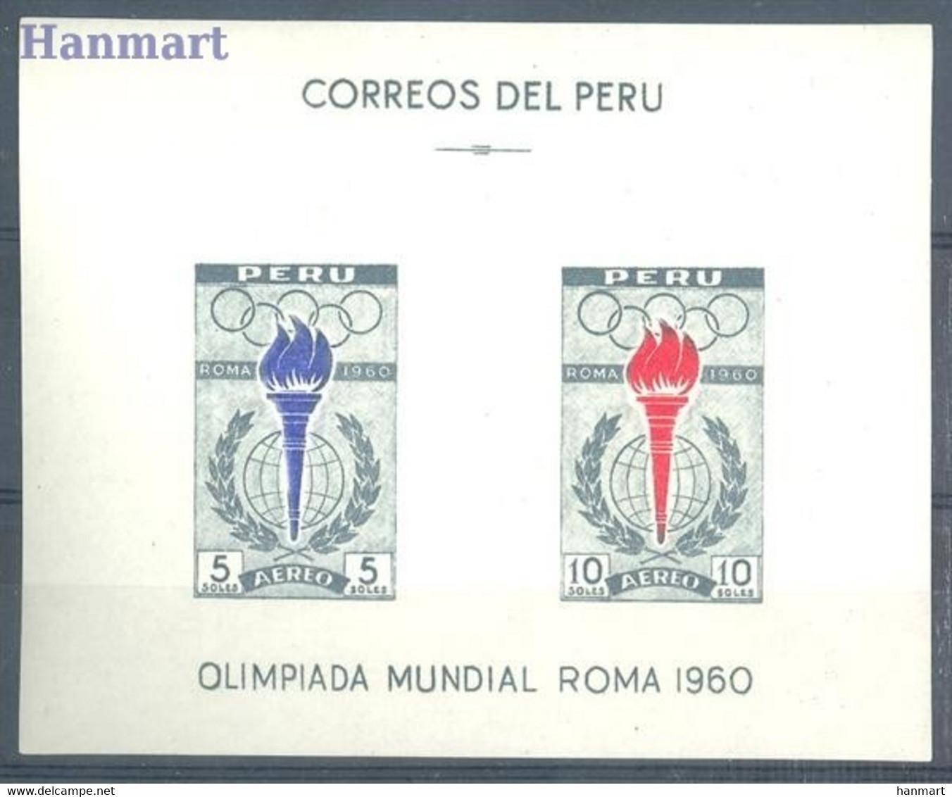 Peru 1961 Mi Blok 5 Postfris  (ZS3 PRUbl5) - Zomer 1960: Rome