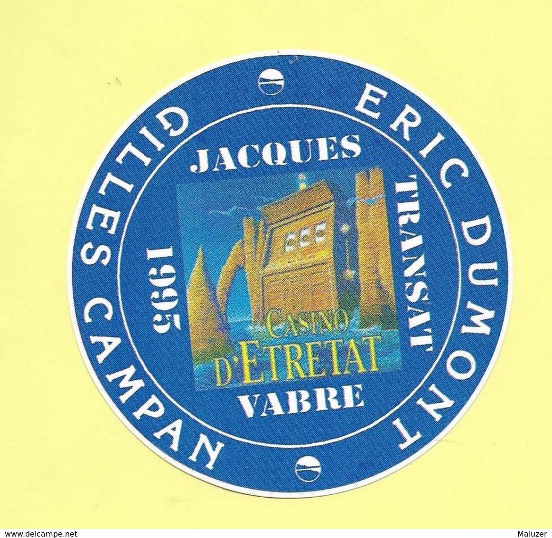 AUTOCOLLANT STICKER - CASINO D'ETRETAT - TRANSAT JACQUES VABRE - ERIC DUMONT - GILLES CAMPAN - VOILE - SPORT - Stickers