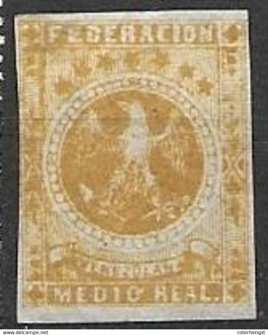 Venezuela 1863 Classic Stamp Mh* 10 Euros (FAULTY Thin) - Venezuela