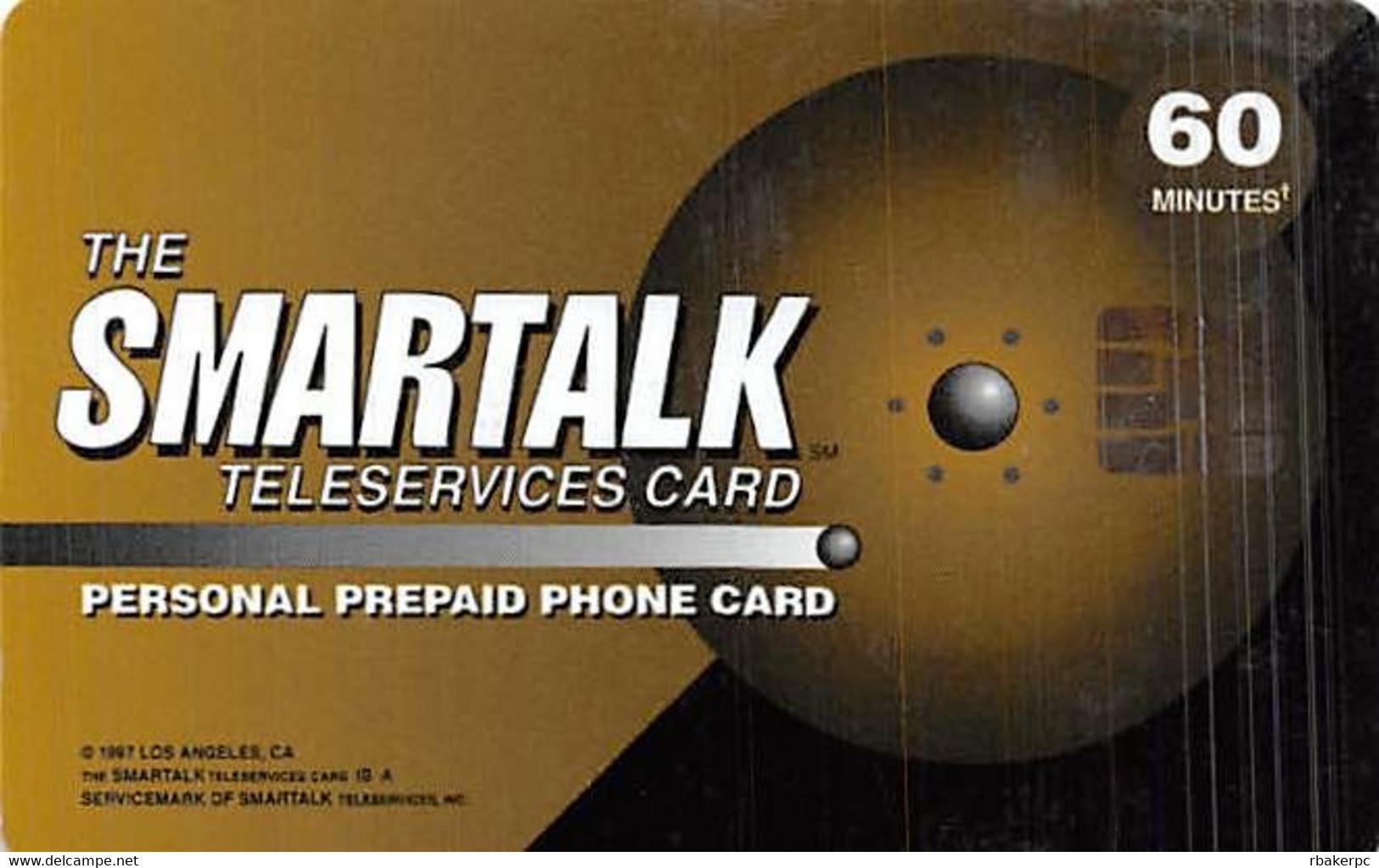 60 Minute Smartalk Teleservices Card With Smartchip - Telecom Operators