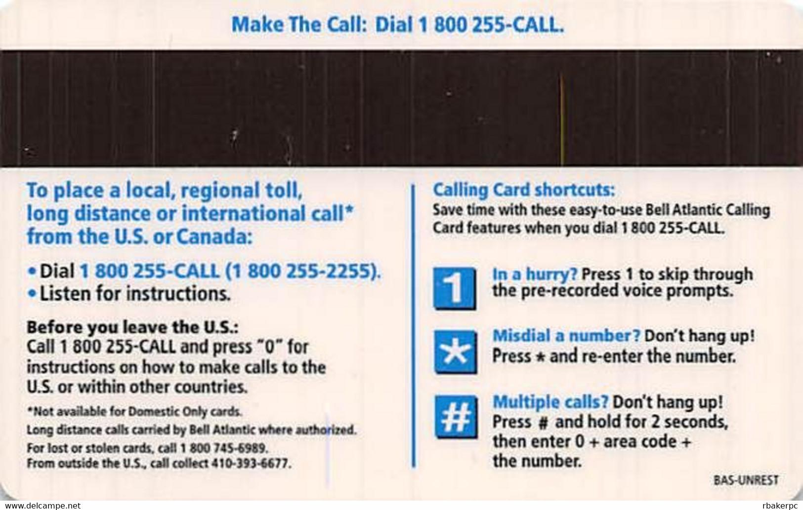 Bell Atlantic Calling Card - Telecom Operators