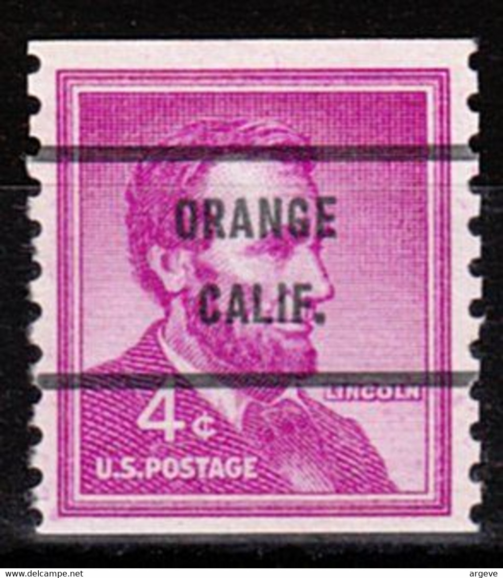 Locals USA Precancel Vorausentwertung Preo, Bureau California, Orange 1058-71 - Precancels