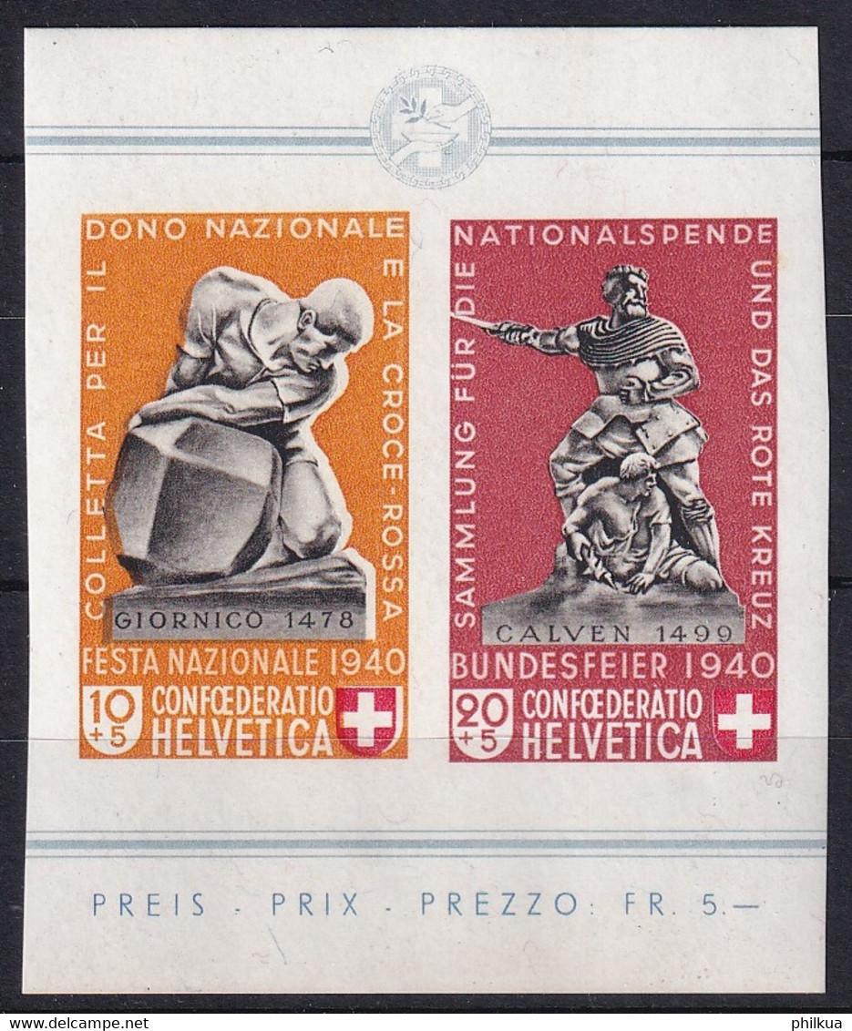 Zumstein 9-10 / Michel 370-371 - Blockauschnitt - Paar - Postfrisch/**/MNH - Usados