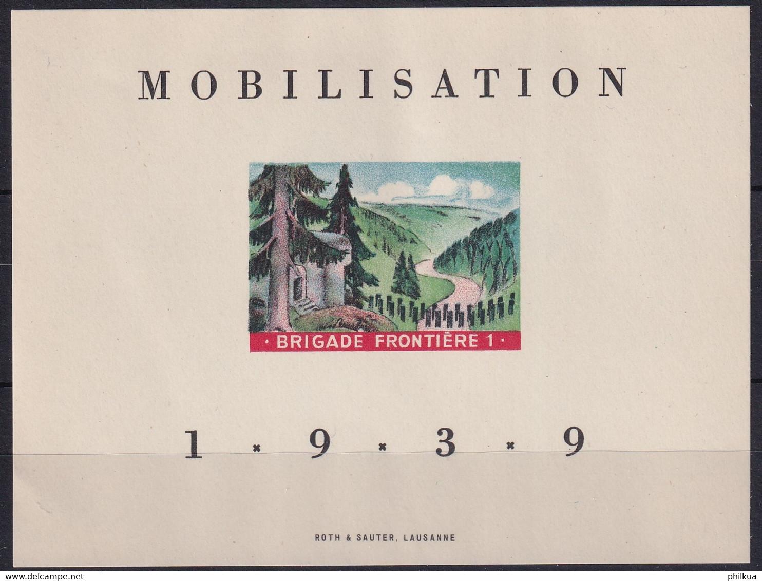Soldatenmarke Schweiz - 1a Grenztruppen - Einerbögli - Postfrisch/**/MNH - Viñetas