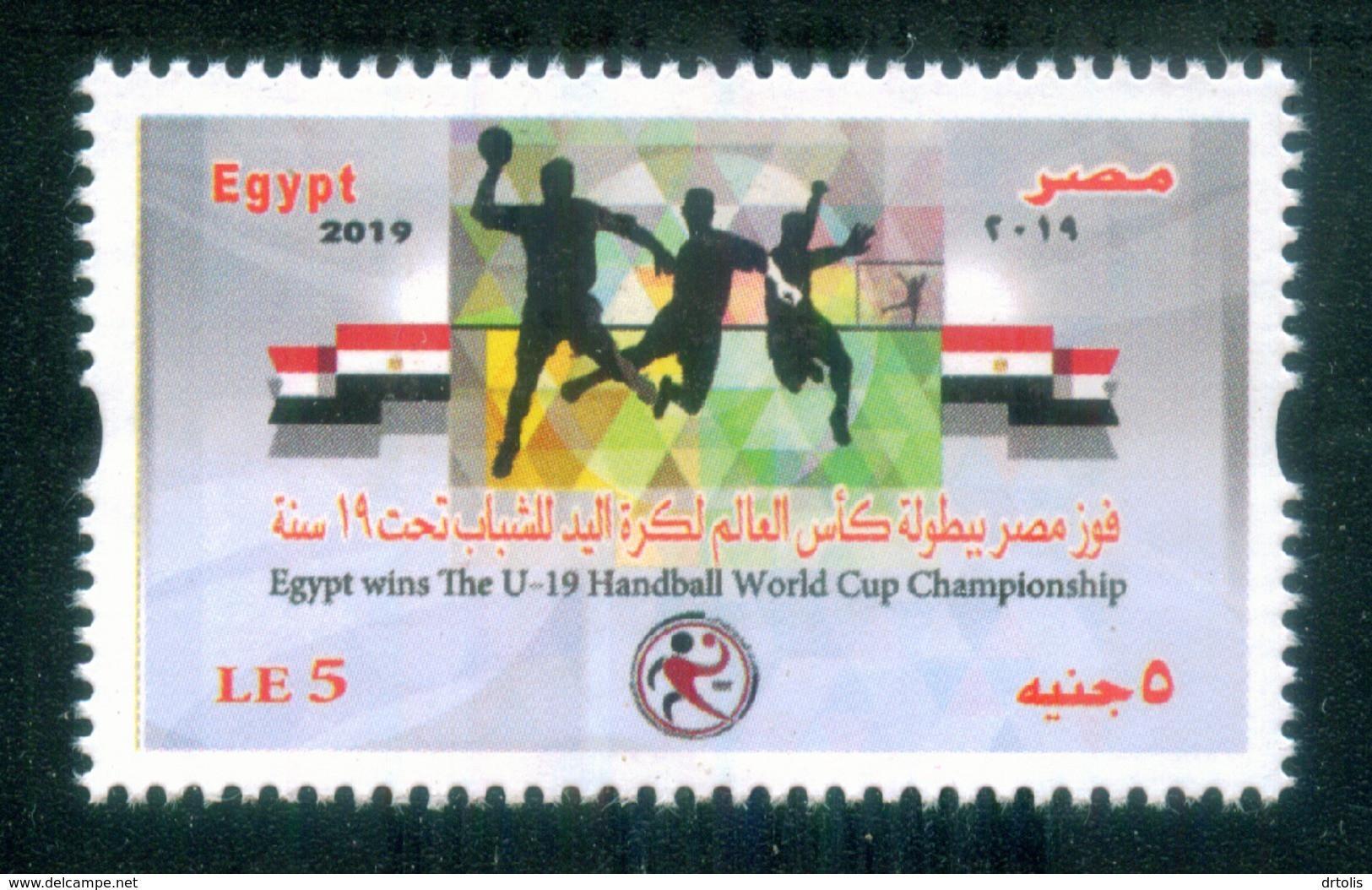 EGYPT / NORTH MACEDONIA / 2019 / SPORT / HANDBALL / U-19 HANDBALL WORLD CUP CHAMPIONSHIP / MNH / VF - Nuovi