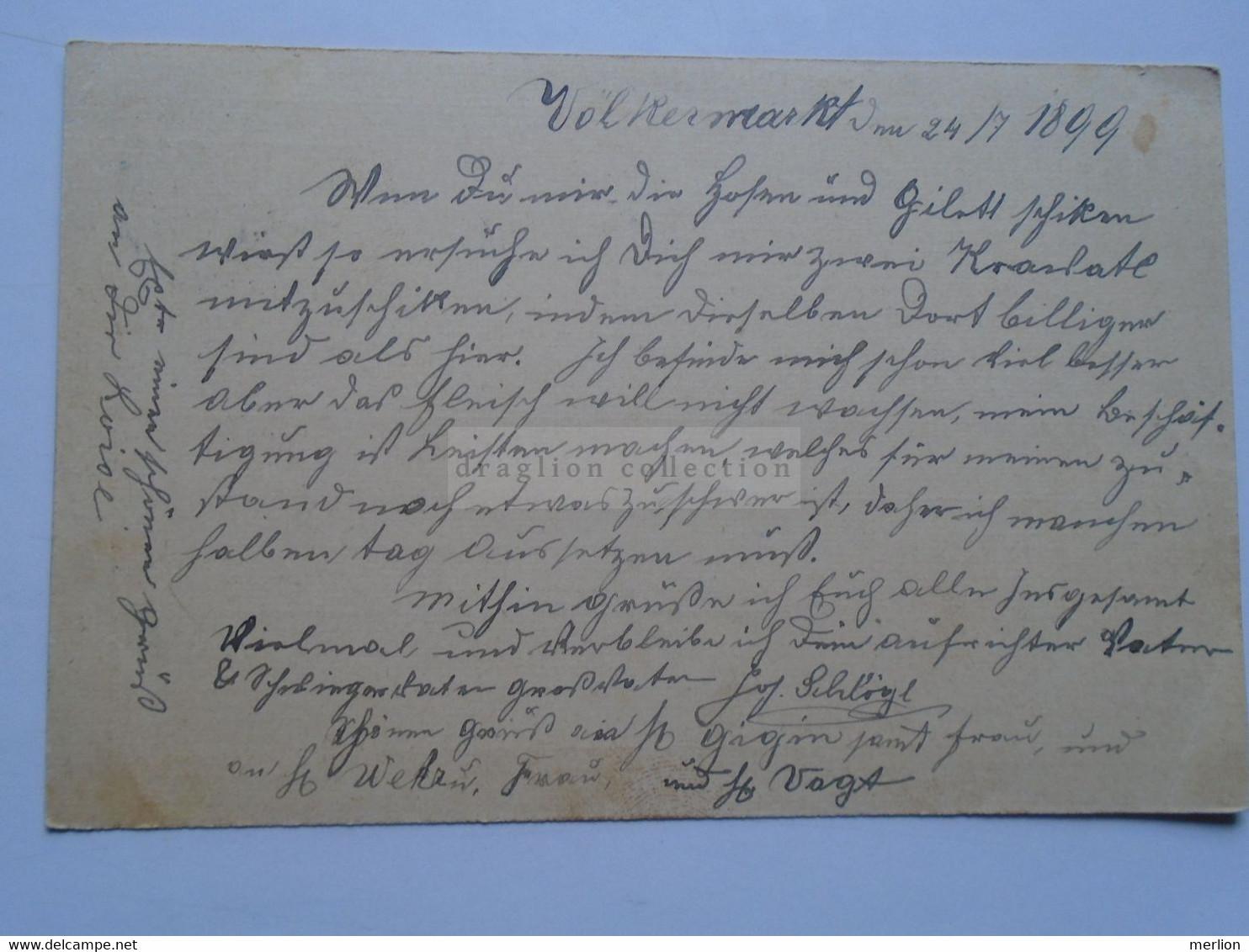 D178654   Österreich Ganzsache  1899   Völkermarkt - Sent To Säckingen - Franz Schlőgl - Sin Clasificación