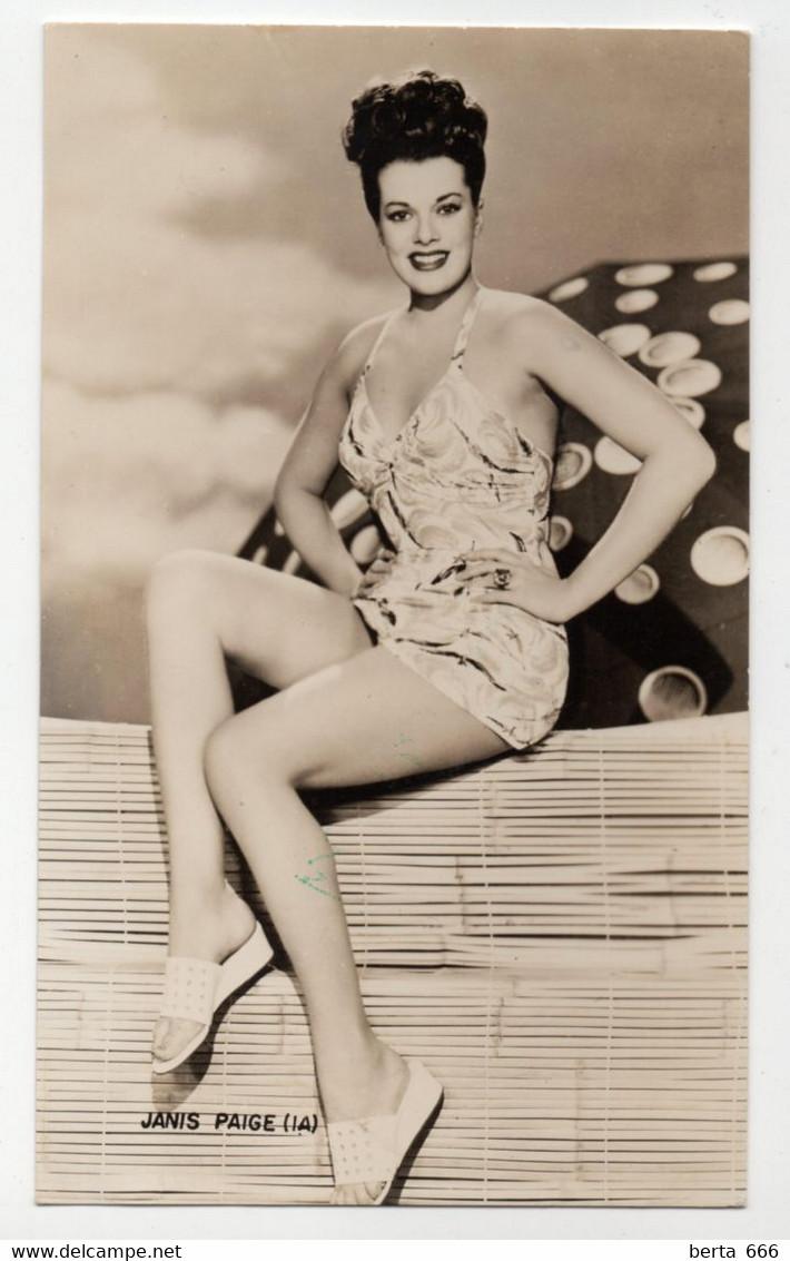 Janis Paige Vintage Real Photo - Beroemde Personen