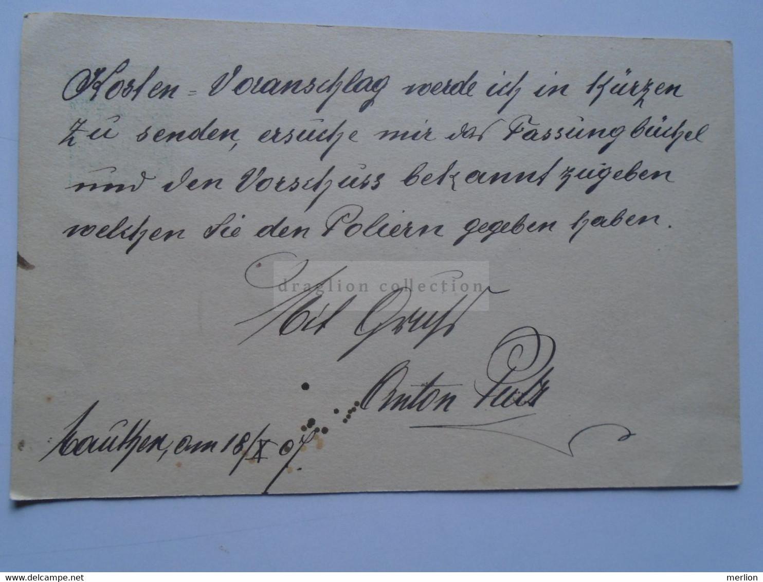 D178663  Österreich Ganzsache  1907 MAUTHEN  - Anton Putz - Sent To  Birnbaum - Johann Huber  Gastwirt (Bürgmeister) - Sin Clasificación