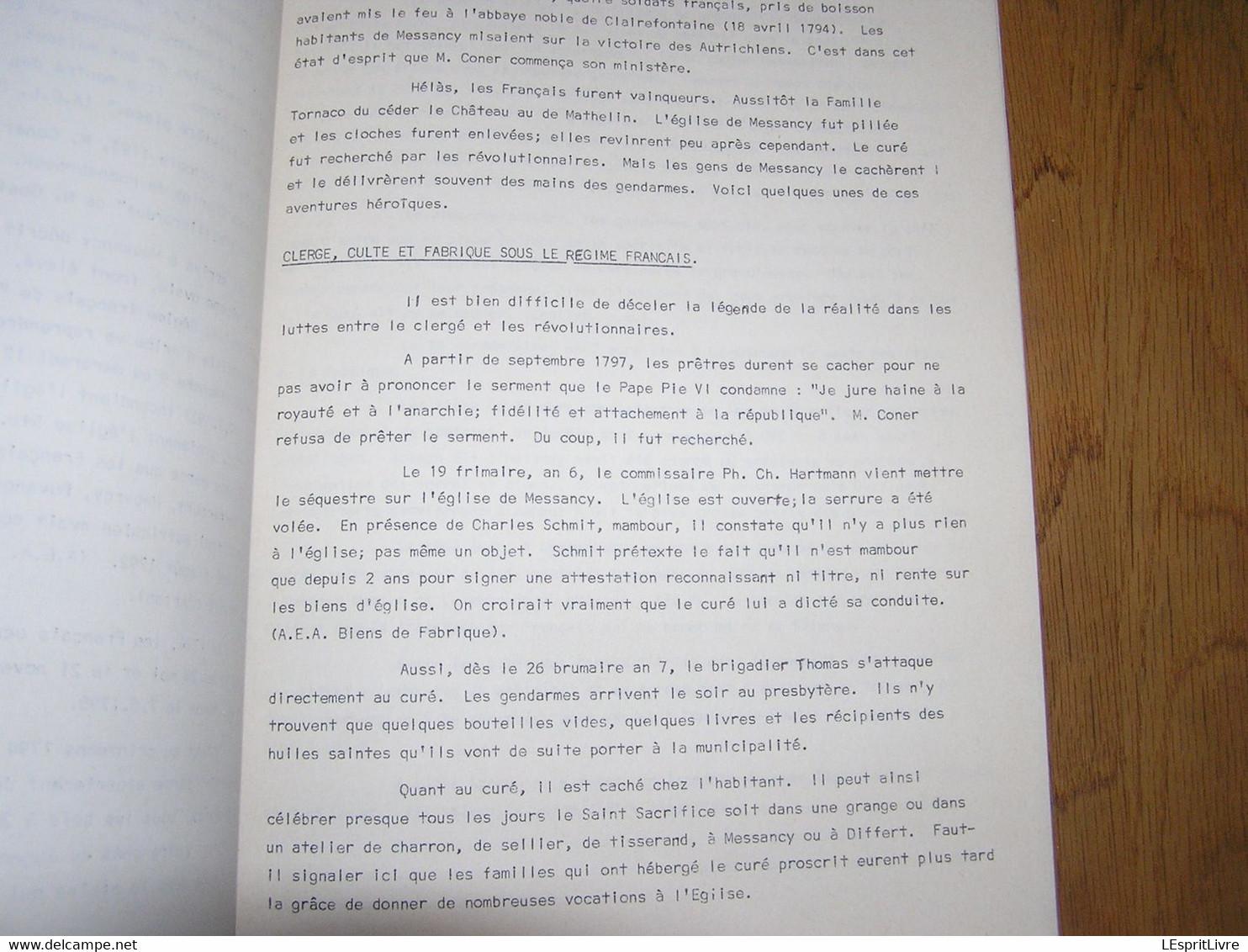 MESSANCY Pages D'Histoire 1 La Paroisse Saint Jacques M Muller Régionalisme Luxembourg Ardenne Curé Eglise Culte Clergé - Bélgica