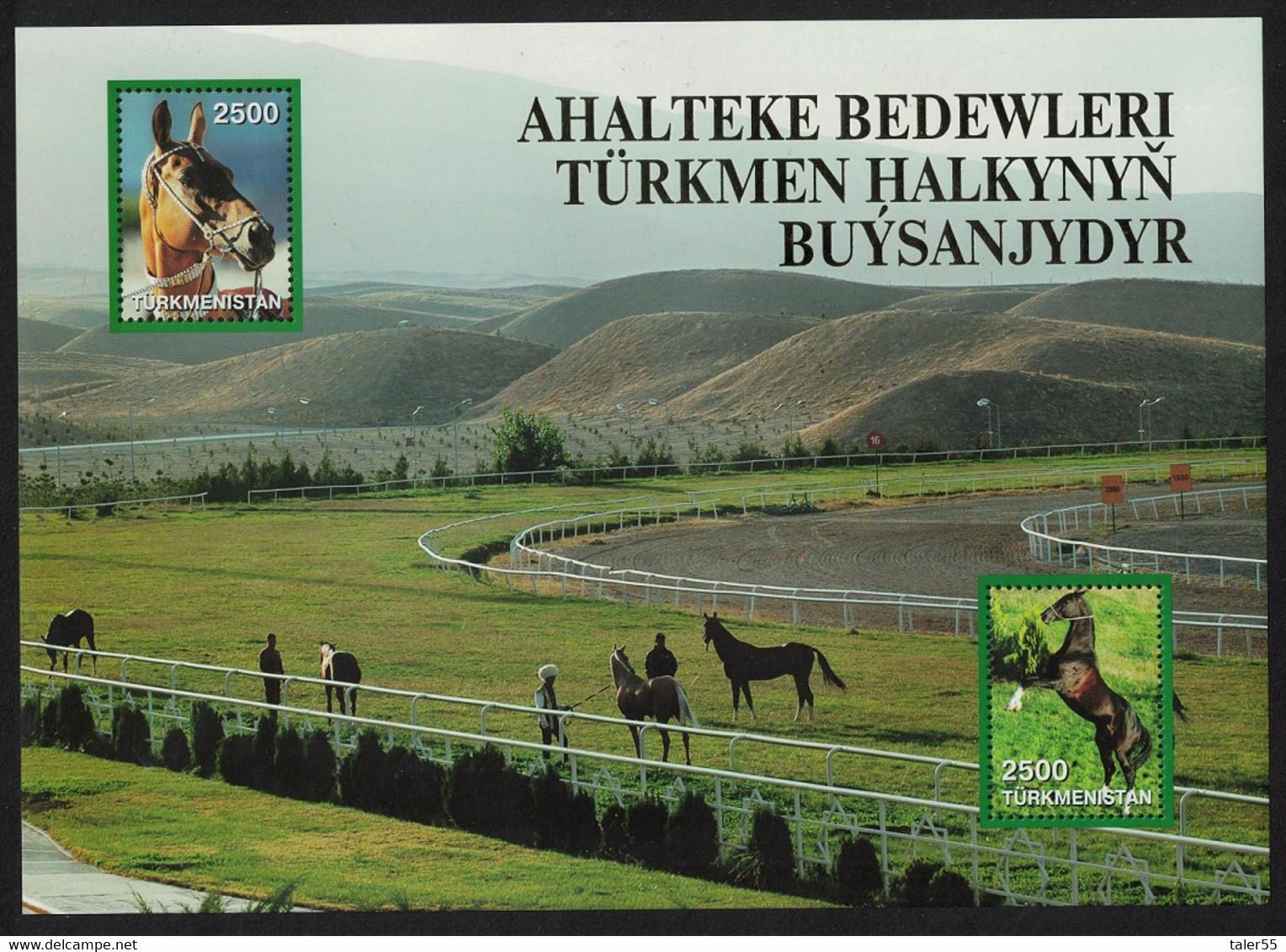 Turkmenistan Akhal-Teke Horse Wearing Decorative Bridle Sheet 2005 MNH SG#MS120a CV£8.50 - Turkmenistan