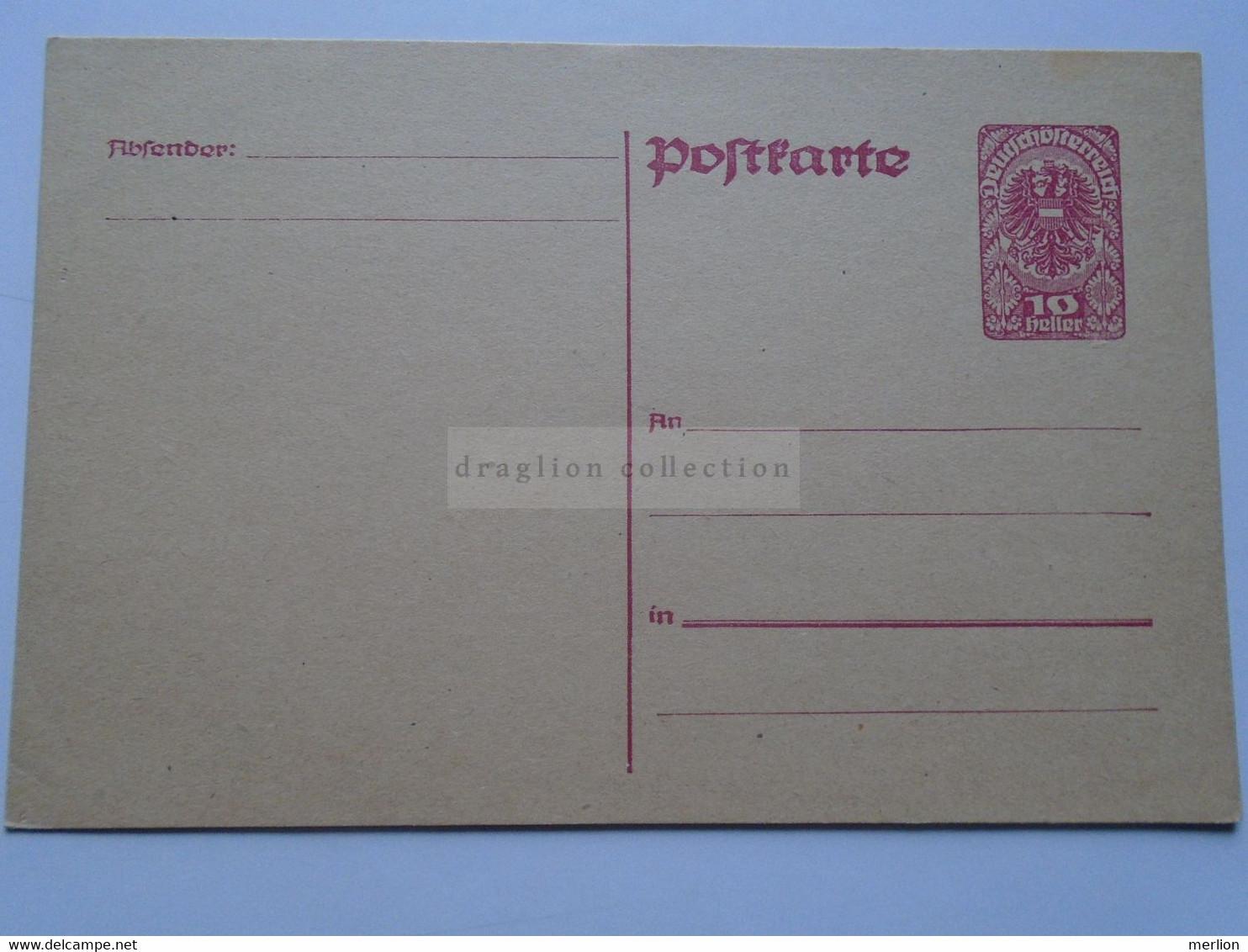 D178686 Österreich  Ganzsache - Entier Postal 10 Heller Wappenadler - Deutschösterreich   - Austria  Not Used - Sin Clasificación