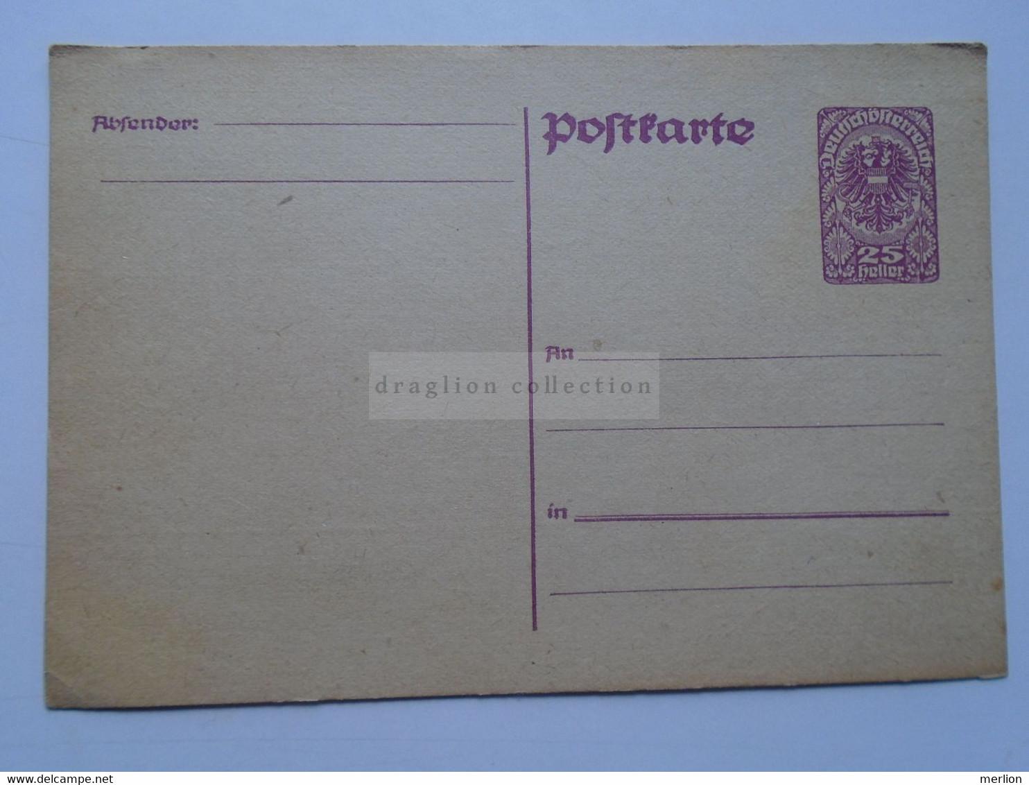 D178687 Österreich  Ganzsache - Ca 1920 Entier Postal 25  Heller Wappenadler - Deutschösterreich   - Austria  Not Used - Sin Clasificación