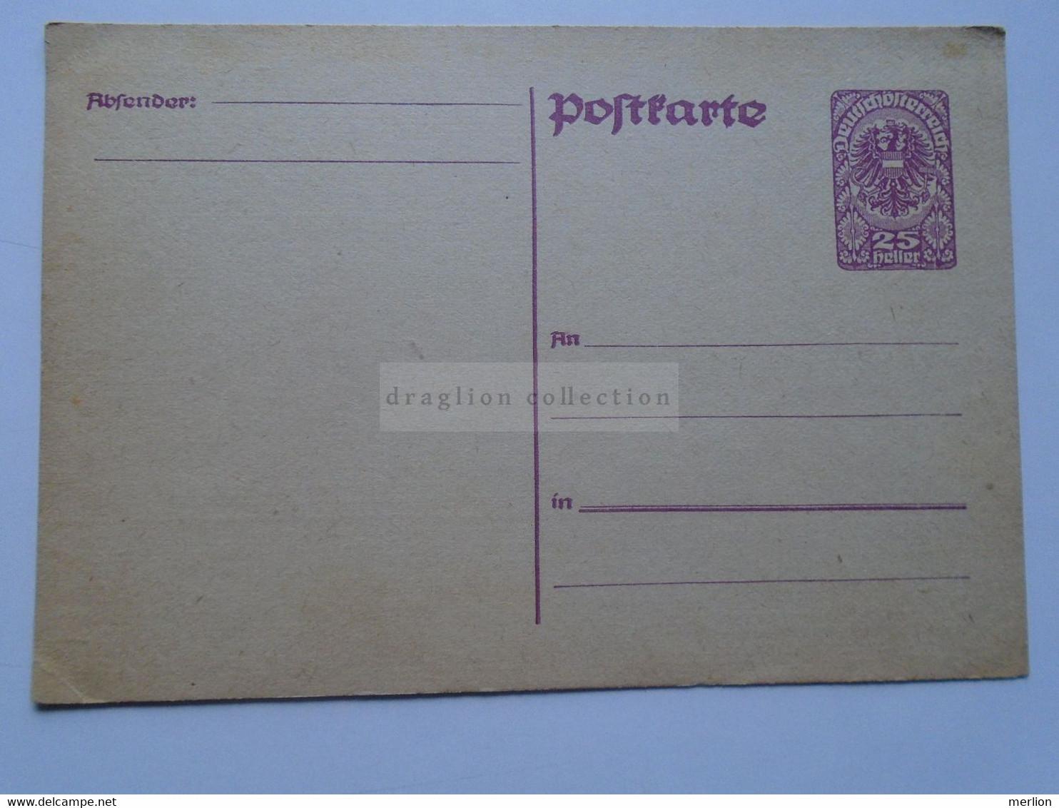 D178688 Österreich  Ganzsache - Ca 1920 Entier Postal 25  Heller Wappenadler - Deutschösterreich   - Austria  Not Used - Non Classés