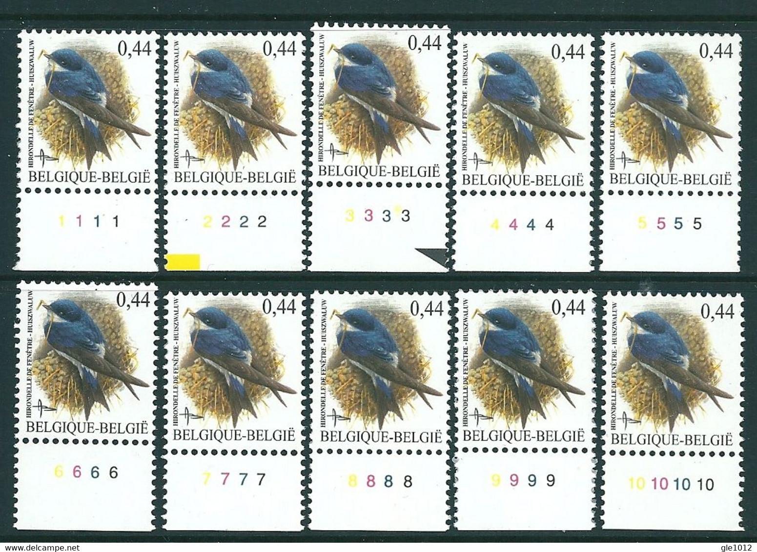 Buzin Nr 3266** Plaatnrs 1-10 - 1985-.. Vogels (Buzin)