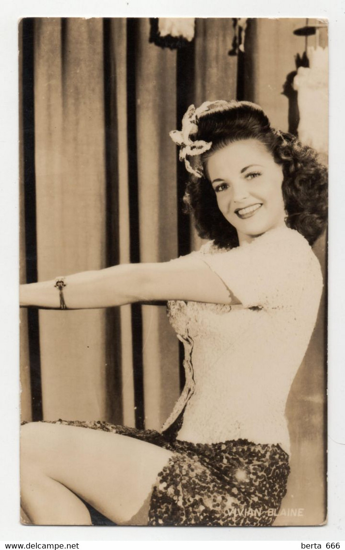 Vivian Blaine  Actress Real Photo Vintage Postcard - Acteurs
