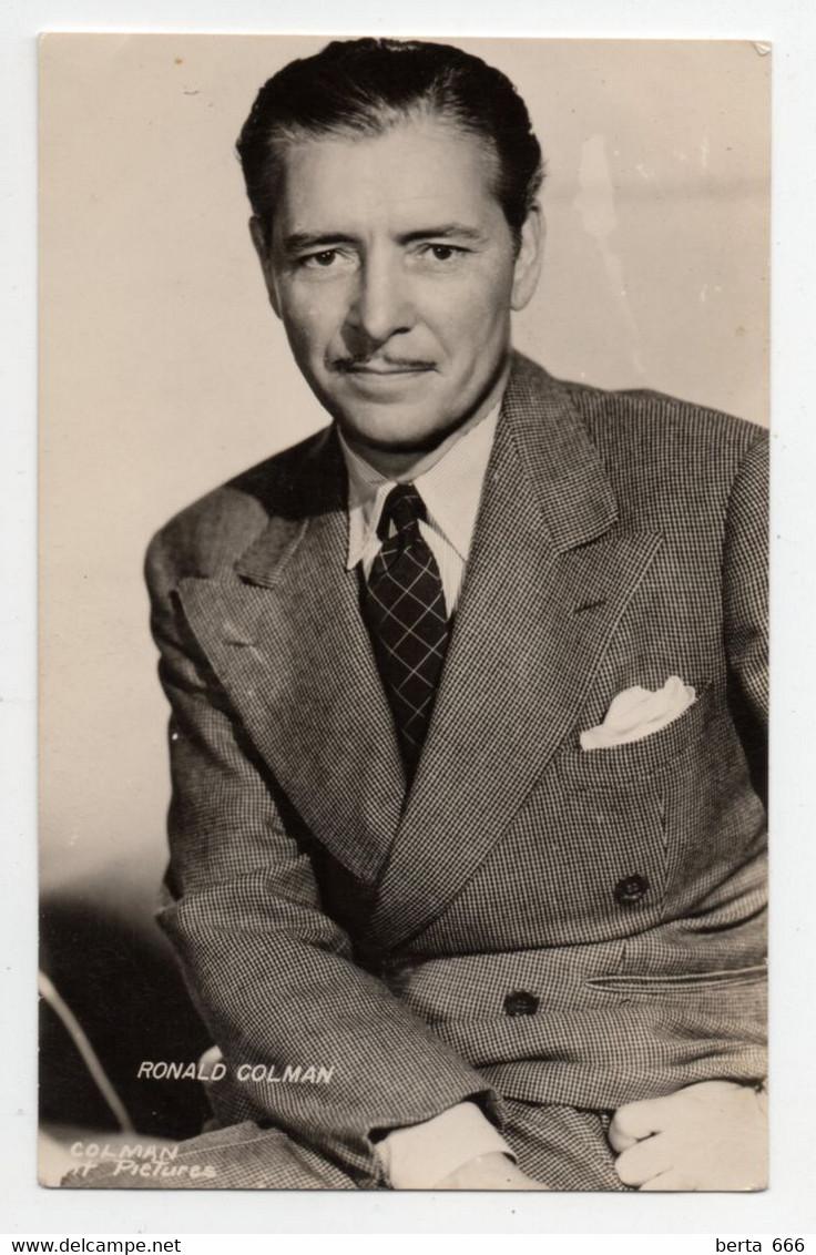 Ronald Colman Actor Real Photo Vintage Postcard - Acteurs