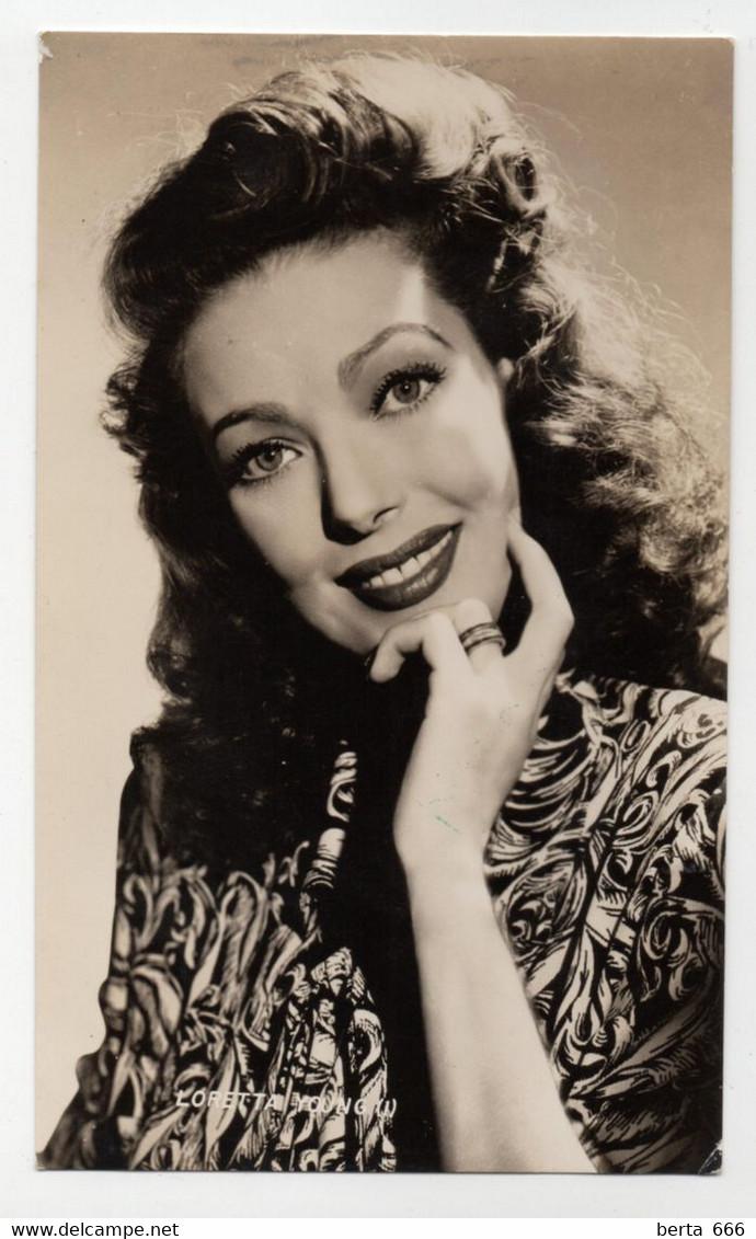 Loretta Young Actress Original Real Photo - Célébrités