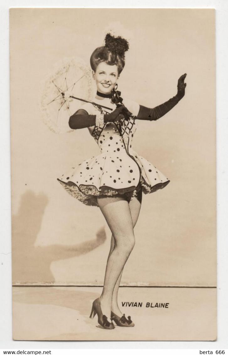 Vivian Blaine Actress Original Real Photo - Beroemde Personen