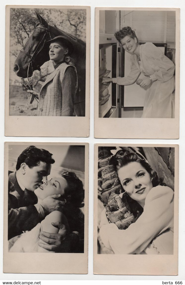 Film  Actor Actress To Identify Set Of 4 Real Photo Vintage Postcards - Acteurs