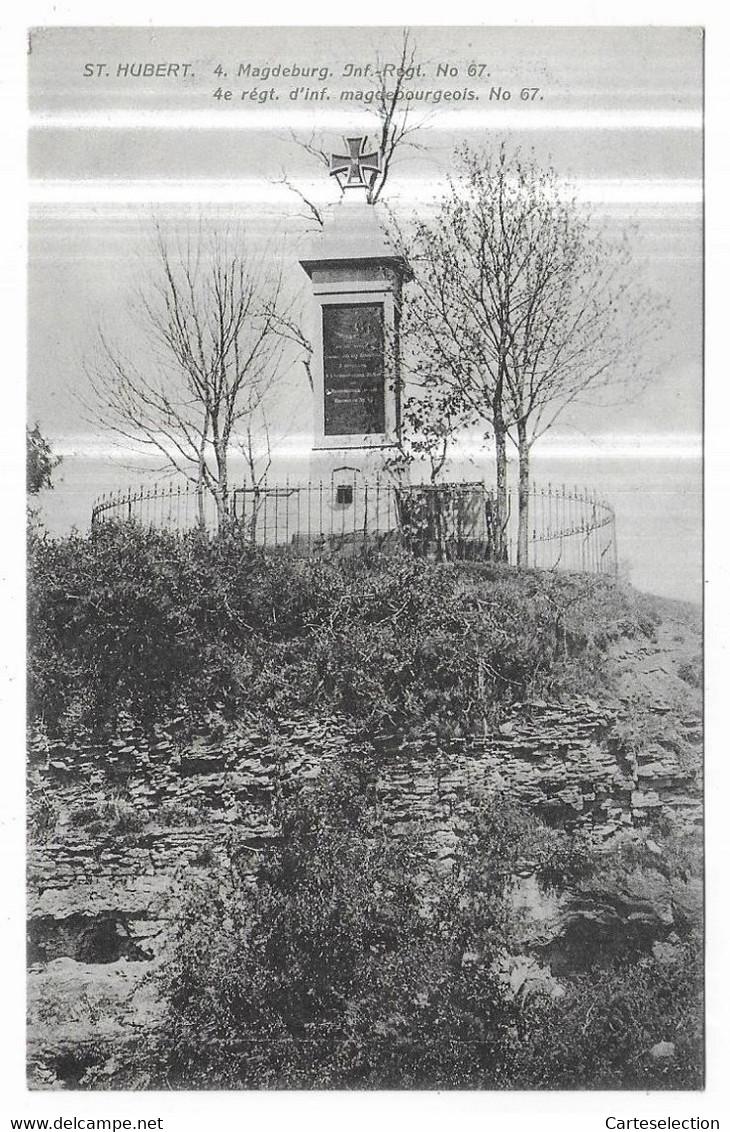 Saint Hubert 4. Magdeburg. Inf.-Regt. N° 67. 4e Régt. D' Inf. Magdebourgeois. N° 67. - Altri Comuni